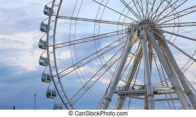 Ferris wheel   - Ferris wheel illuminated at dusk