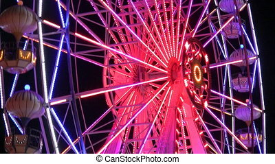 Ferris Wheel - Amusement park at night