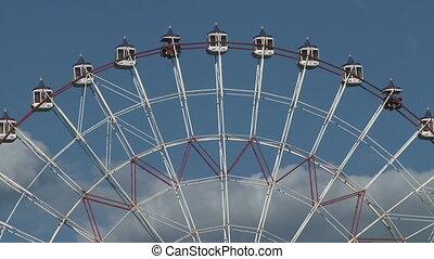 Ferris wheel   - Front view of ferris wheel. Time lapse