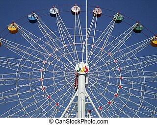 ferris wheel high in the sky