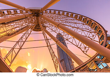 Ferris Wheel Hong Kong - The popular symbol of Ferris Wheel...