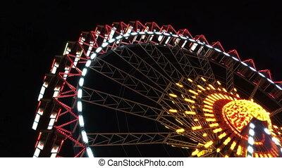 Ferris Wheel illuminated - video of an illuminated ferris...