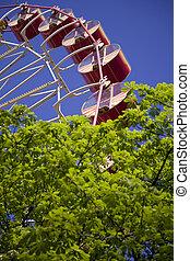 Ferris wheel in green park