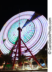 Ferris Wheel in Kobe Japan spinning