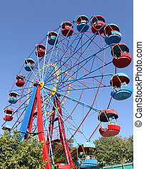 ferris wheel in park in Sevastopol