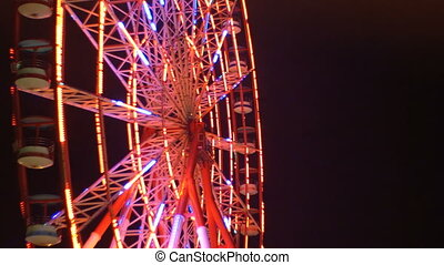 Ferris Wheel Lights at Night