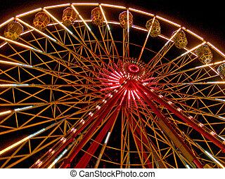 Ferris wheel night time