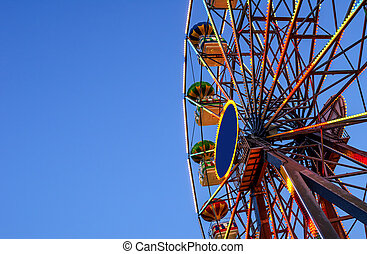 Ferris wheel on a background of sky.