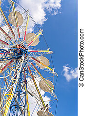 Ferris Wheel on a blue sky