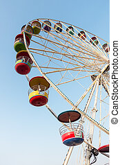 ferris wheel on blue sky