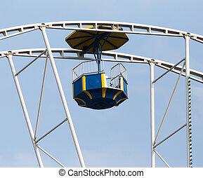ferris wheel on sky background
