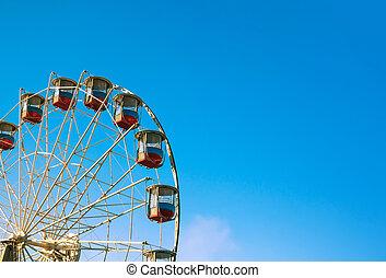 Ferris wheel on the background