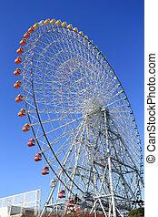 Ferris Wheel - Osaka City in Japan
