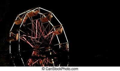 Ferris Wheel Park At Night