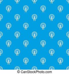 Ferris wheel pattern seamless blue