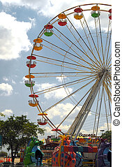 Ferris Wheel - Shot of a ferris wheel. Festival in Sandford,...