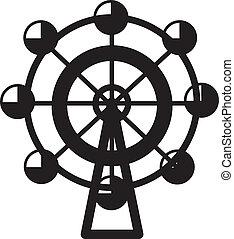 Ferris Wheel  - Small isolated ferris wheel silhouette