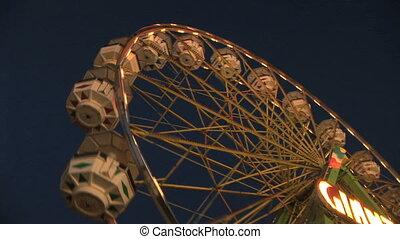 Ferris Wheel - Spinning Ferris Wheel, Clark county fair,...
