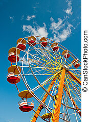 Ferris Wheel - Colorful ferris wheel at carnival in North...
