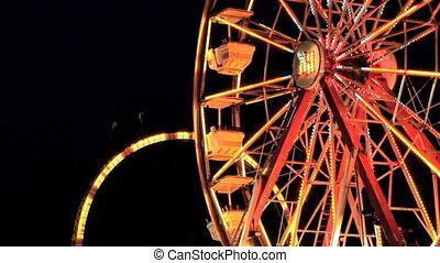 Ferris Wheel, time lapse