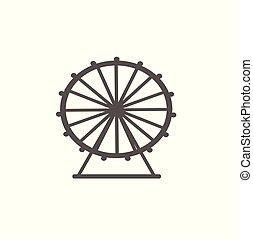 Ferris wheel vector icon isolated