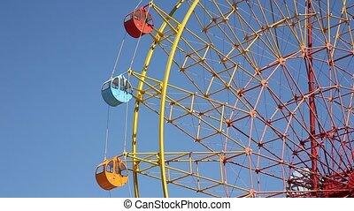 Ferris wheel  - view of a ferris wheel over blue sky