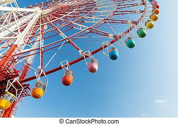 Ferris wheel with sunshine