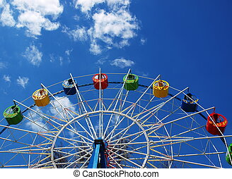 Ferris wheel without visitors - Ferris wheel in the spring...