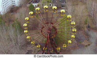 Ferris wheel,near Chernobyl aerial - Pripyat s iconic Ferris...