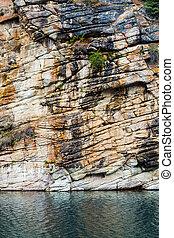ferro cavallo, lago, in, jasper parco nazionale, alberta, canada
