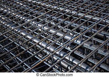 Ferro-concrete reinforcement with tensioned cables in the...