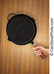 ferro fundido, panela, churrasqueira
