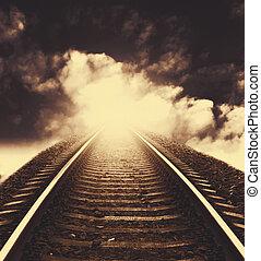 ferrocarril, a, horizonte