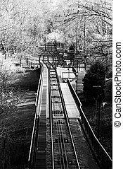 ferrocarril, petrin, funicular, colina