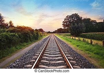 ferrocarril, pistas
