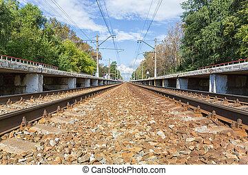 ferrocarril, plataforma
