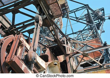 Ferropolis - Detail of a giant excavator in the disused...