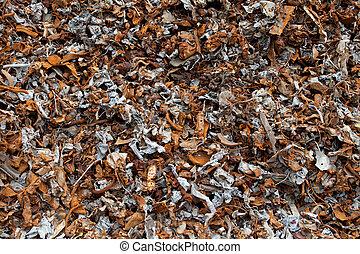 Ferrous metal - Pieces of ferrous metal from magnetic...