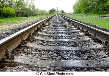 ferrovia, a, orizzonte