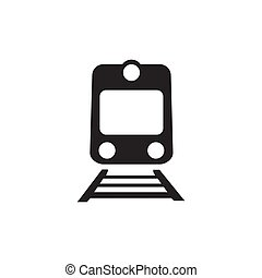 ferrovia, branca, isolado, fundo, ícone