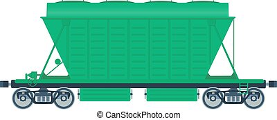 ferrovia, carro., frete