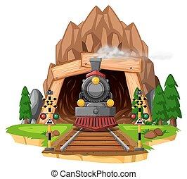ferrovia, cena, locomotiva