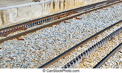 ferrovia cremagliera, piste ferrovia, in, vall, de, nuria, spagna