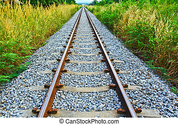 ferrovia, longo