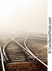 ferrovia, nebbia