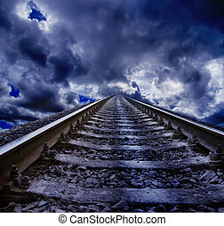 ferrovia, notte