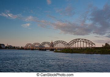 ferrovia, ponte