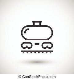 ferrovia, serbatoio, linea, icona