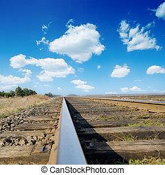 ferroviaire, à, horizon