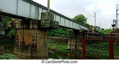 ferroviaire, bridge., fer